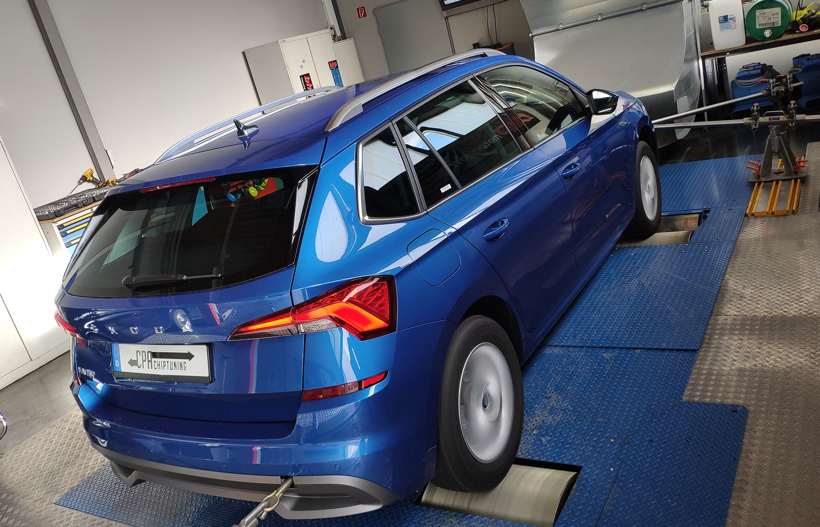The Skoda Kamiq 1.5 TSI on the dyno