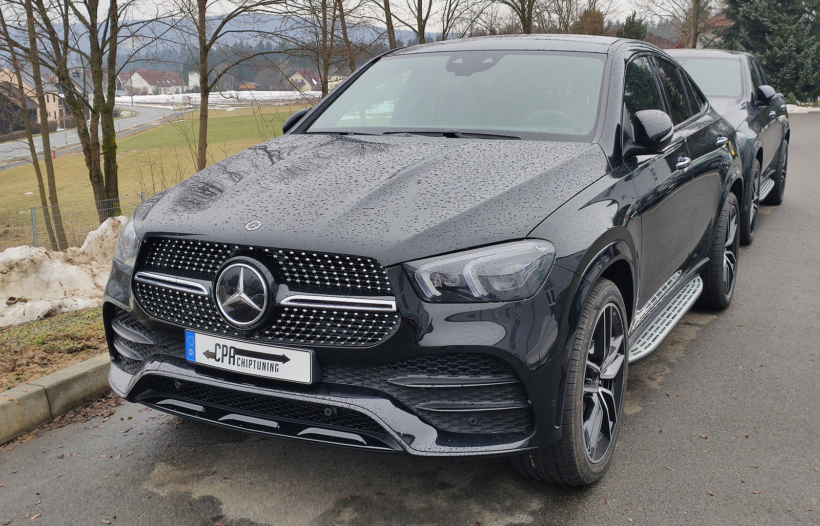 The new Mercedes GLE 350 de being tested at CPA