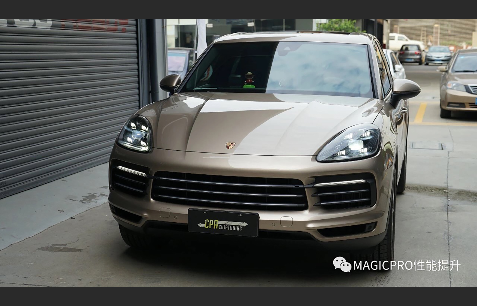Porsche SUV with CPA chip tuning